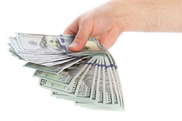 Dinero en las manos