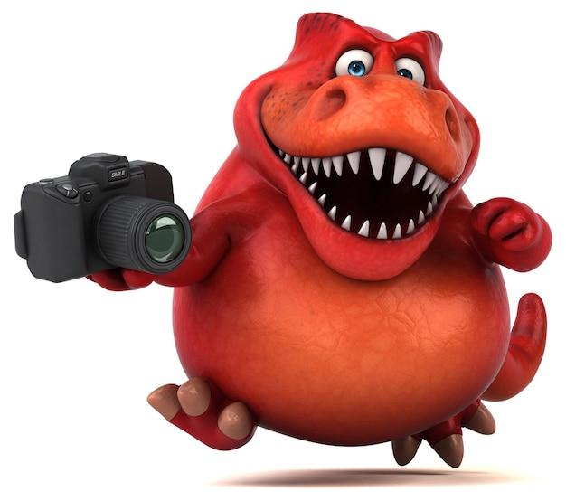 Dinosaurio divertido - ilustración 3d