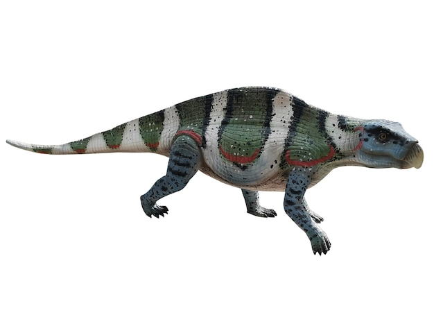 Dinosaurio sobre fondo blanco jurásico