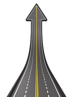 Dirección de la carretera en blanco