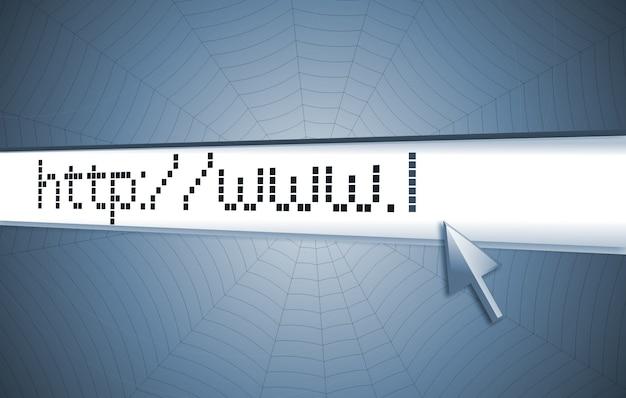 Dirección de internet, pantalla de ordenador
