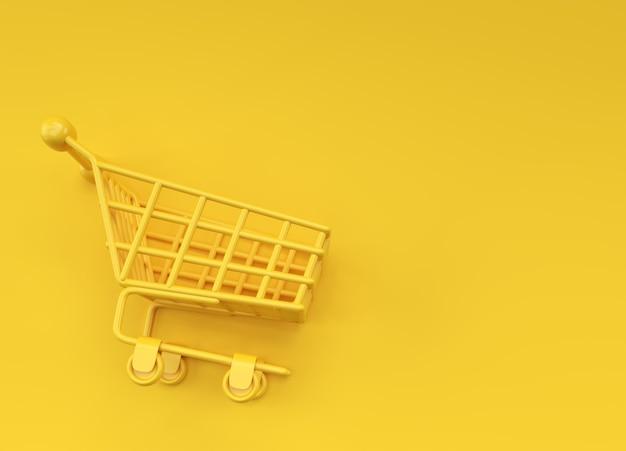 Diseño 3d del ejemplo del icono del carro de la compra.