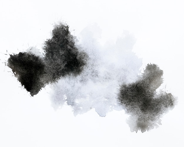 Diseño abstracto mancha negra y gris