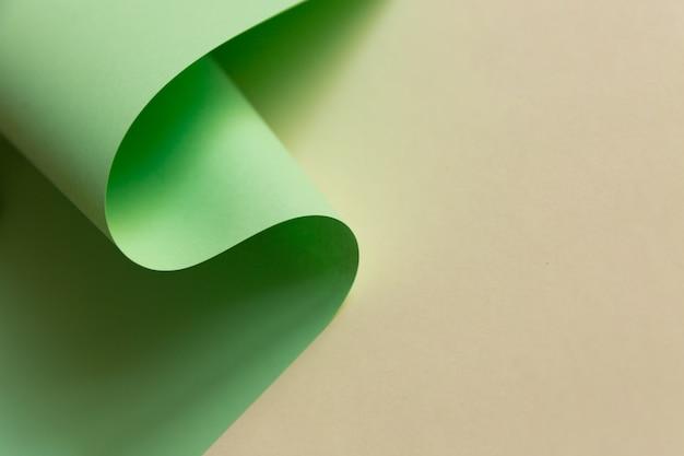 Diseño abstracto de onda de papel verde claro