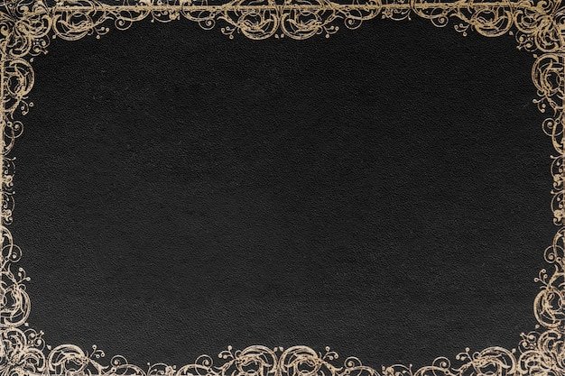 Diseño adornado de la frontera contra el fondo negro para la tarjeta