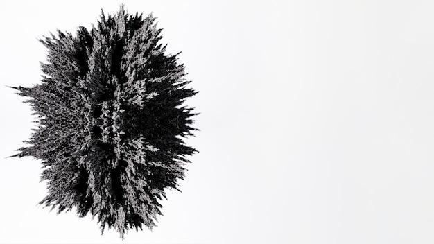 Diseño de afeitado metálico gris oval aislado sobre fondo blanco.