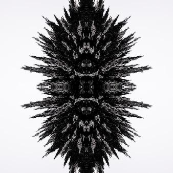 Diseño de afeitado metálico magnético caleidoscopio aislado sobre fondo blanco