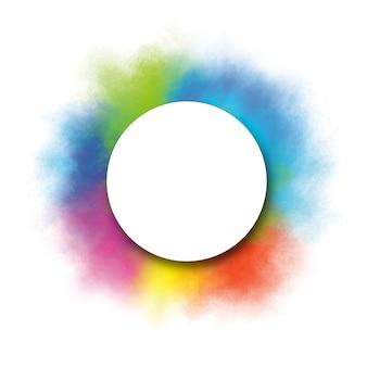 Diseño de banner del festival holi de salpicaduras coloridas con espacio de copia