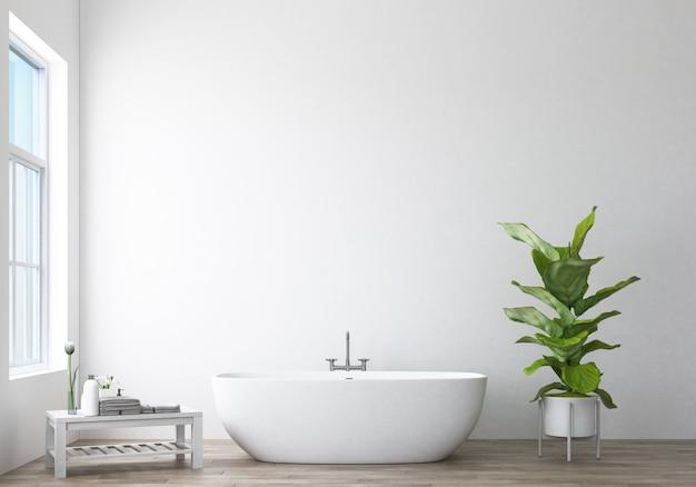 Diseño de baño moderno y representación 3d de loft