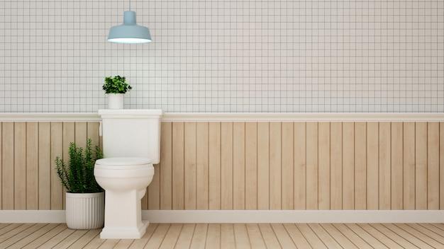 Diseño de baños en hotel o apartamento - representación 3d