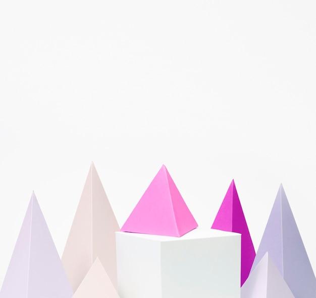 Diseño de colección de elementos de papel en colores pastel