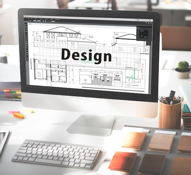 Diseño construir dibujo concepto arquitecto exterior