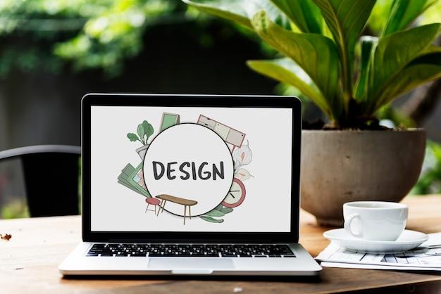 Diseño de decoración del hogar estilo de renovación
