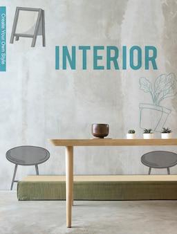 Diseño de decoración de renovación mínima interior de la casa
