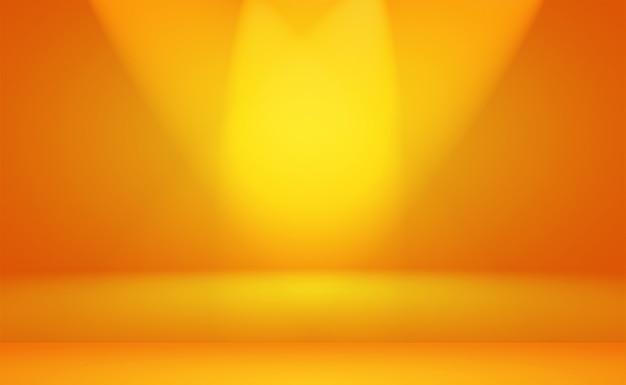 Diseño de diseño de fondo naranja abstracto, estudio, habitación, plantilla web, informe comercial con color degradado de círculo suave.