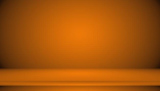 Diseño de diseño de fondo naranja liso abstracto, estudio, habitación, plantilla web, informe comercial con color degradado de círculo suave