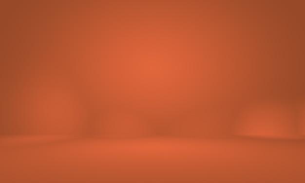 Diseño de diseño de fondo naranja liso abstracto, estudio, sala, plantilla web, informe comercial con color degradado de círculo suave.