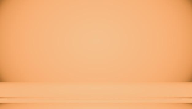 Diseño de diseño de fondo naranja liso abstracto, estudio, sala, plantilla web, informe comercial con color degradado de círculo suave. Foto gratis