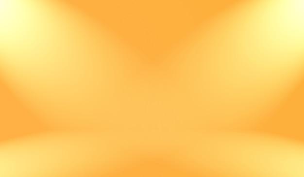 Diseño de diseño de fondo naranja liso abstracto. informe comercial con color degradado de círculo suave.