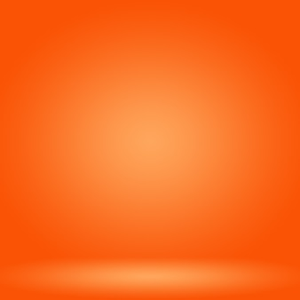 Diseño de diseño de fondo naranja liso abstracto, plantilla web, informe comercial con color degradado de círculo suave