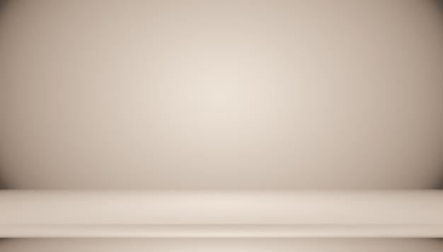 Diseño de diseño de fondo de pared marrón liso abstracto, estudio, habitación, plantilla web, informe comercial con color degradado de círculo suave.