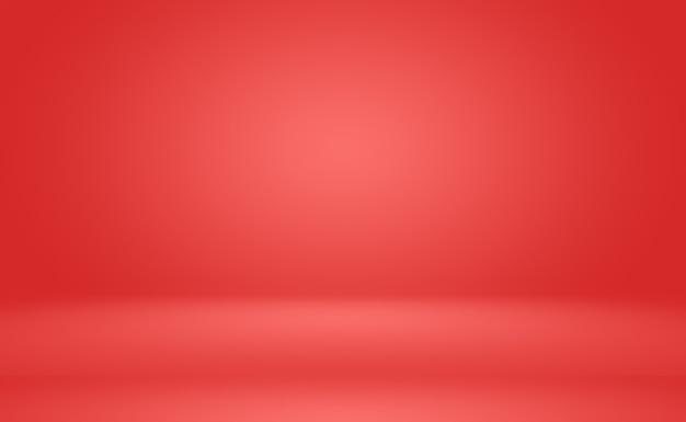 Diseño de diseño de san valentín de navidad de fondo rojo suave de lujo abstracto, plantilla web, informe comercial con color degradado de círculo suave.