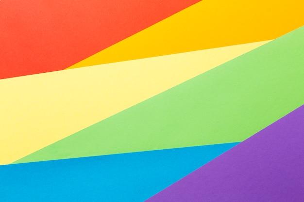 Diseño de fondo abstracto de bandera del orgullo del arco iris