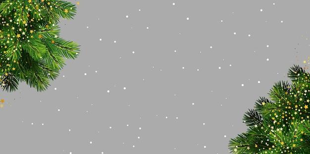 Diseño de fondo de banner de navidad