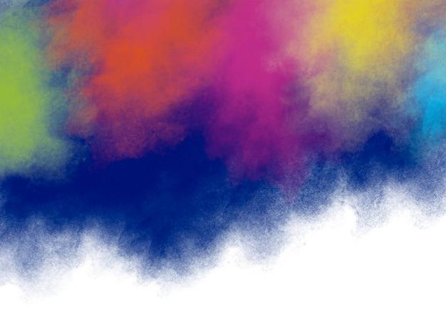 Diseño de fondo del festival holi de pinceladas coloridas con espacio de copia