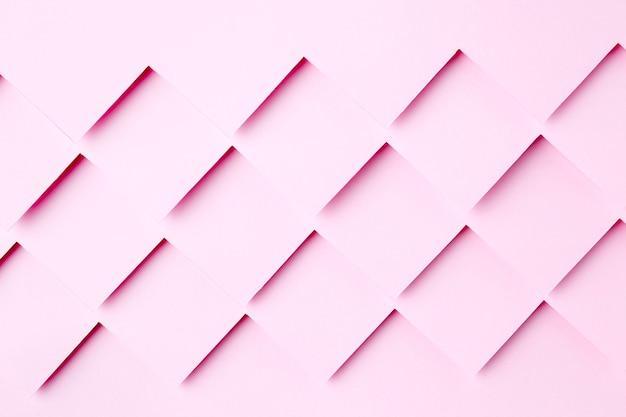 Diseño de fondo de formas de papel rosa