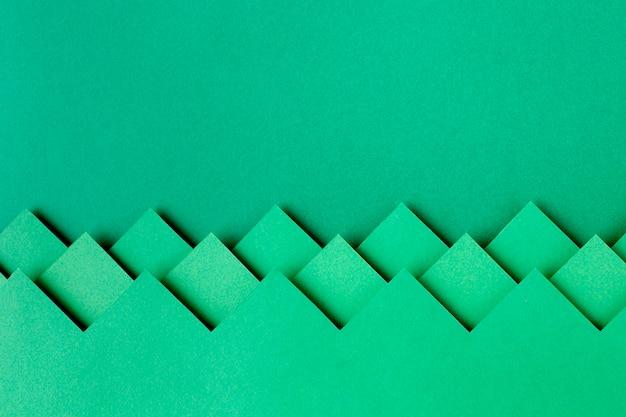 Diseño de fondo de formas de papel verde