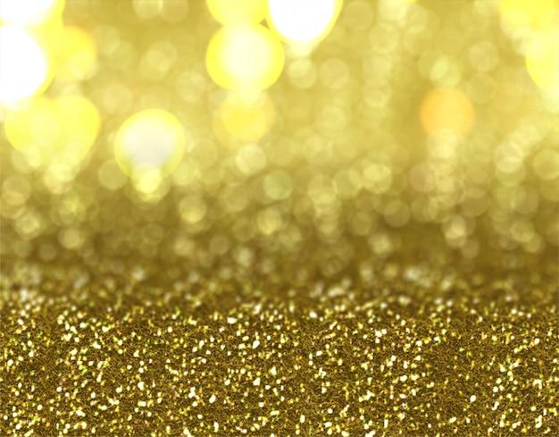 Diseño de fondo de oro brillo de navidad