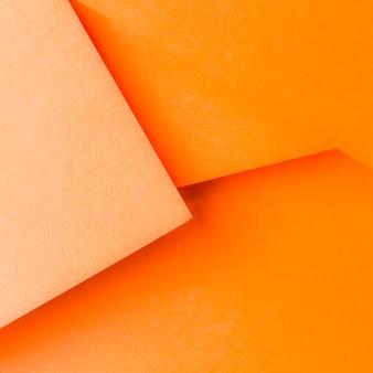 Diseño de fondo de papel naranja abstracto