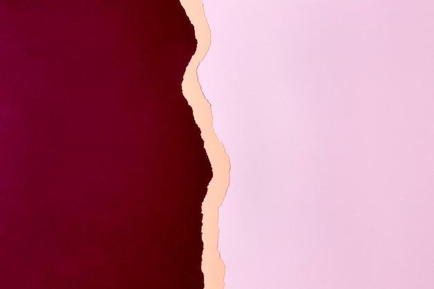Diseño de fondo de papel rojo y rosa