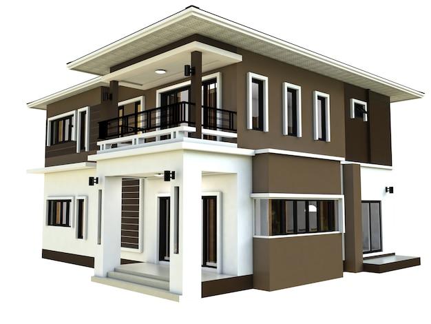 Diseño de hogar moderno en 3d