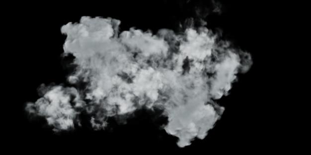 Diseño de humo sobre fondo negro