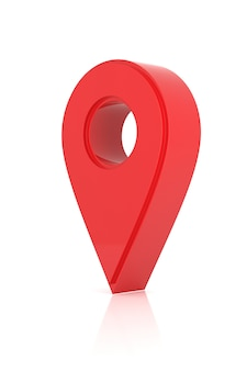Diseño de icono de ubicación. representación 3d