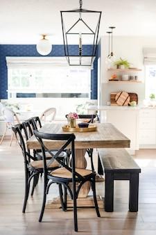 Diseño interior de casa minimalista y limpio
