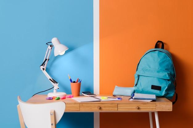 Diseño interior de escritorio infantil