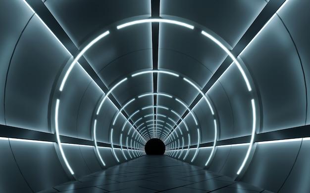 Diseño interior de pasillo iluminado