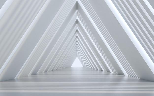 Diseño interior de pasillo iluminado.