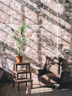 Diseño interior de la sala o estudio.