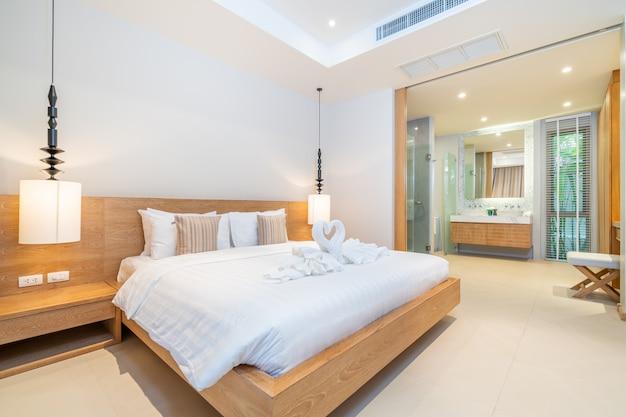 Diseño de interiores en el dormitorio de la casa.