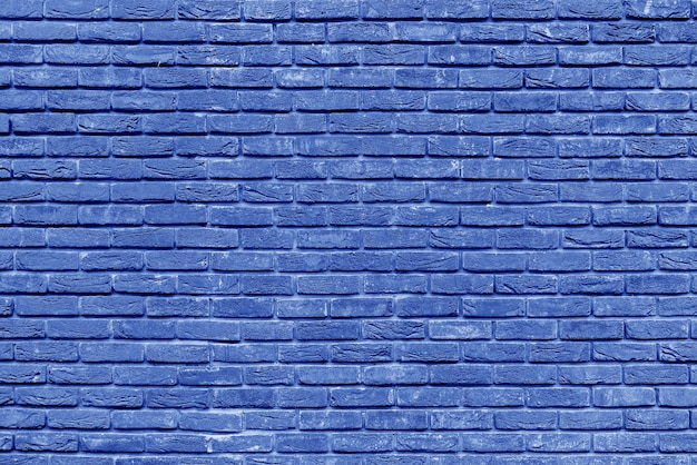 Diseño de interiores de pared de ladrillo azul antiguo