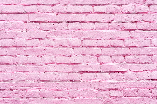 Diseño de interiores de pared de ladrillo rosa antiguo