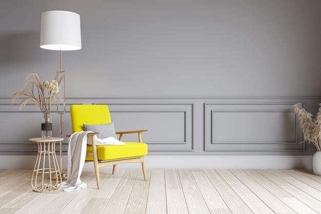 Diseño de interiores de sala de estar moderna
