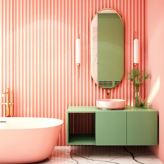 Diseño de interiores para zona de baño en estilo moderno.