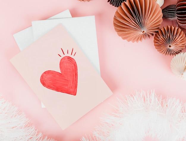 Diseño lindo de la tarjeta del día de san valentín