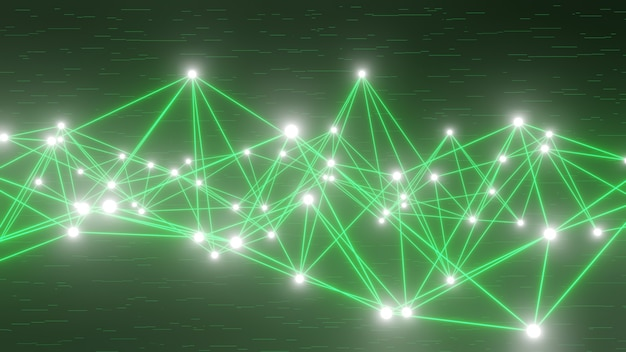 Diseño de línea de datos abstracto 3d