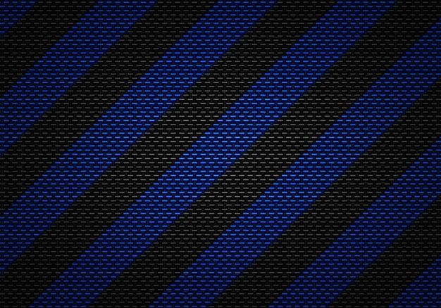 Diseño de material con textura de carbono negro abstracto con cinta de advertencia